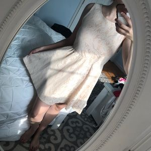 Cream and White Detailed Dress